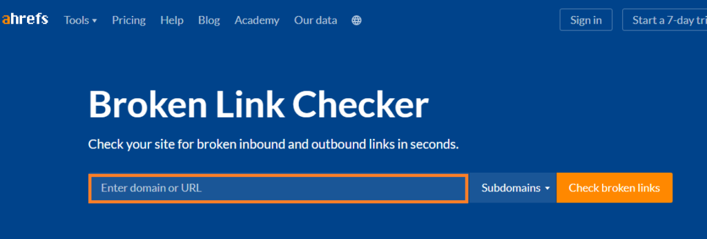 ahref backlink checker tool