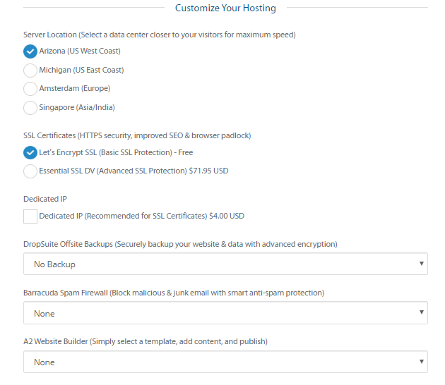 advanced options in shared hosting that you can take