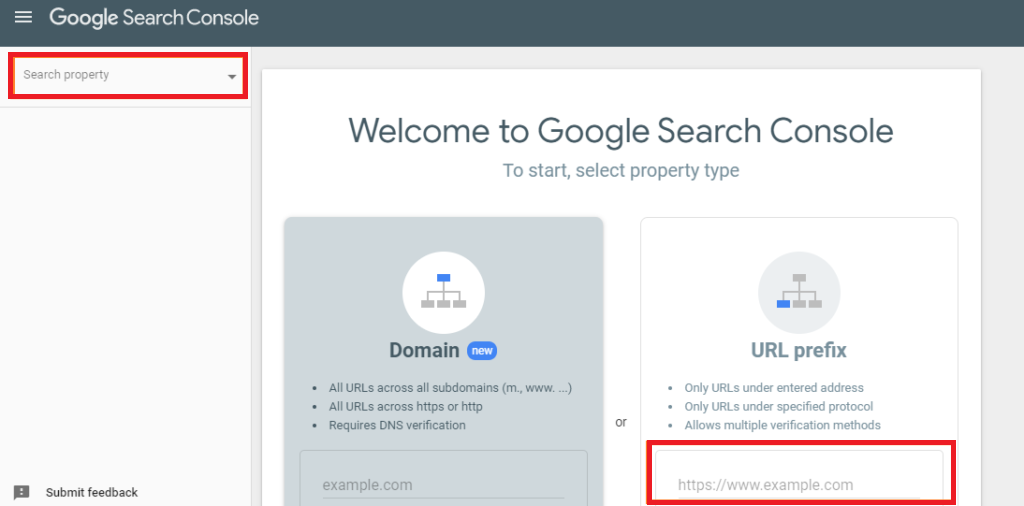 add your website as a property in google search console.