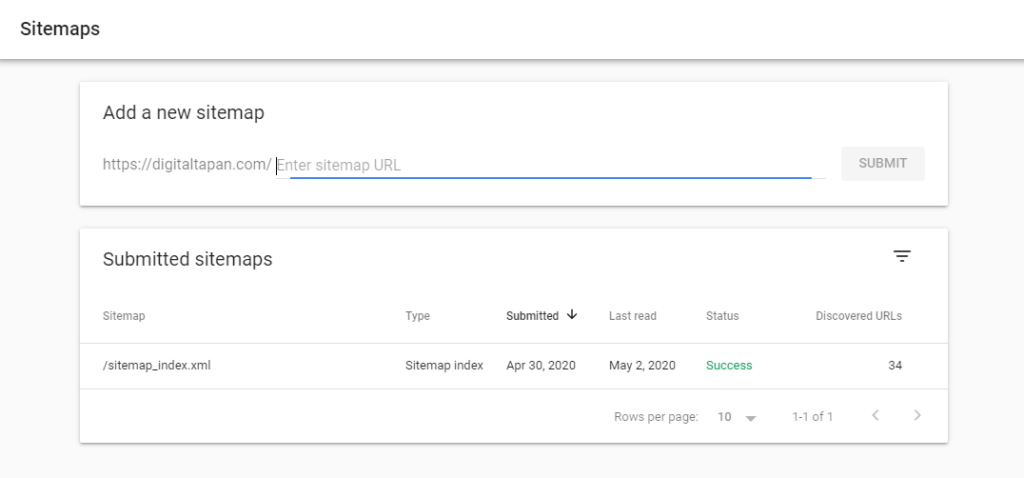 submit your sitemap to google search engine