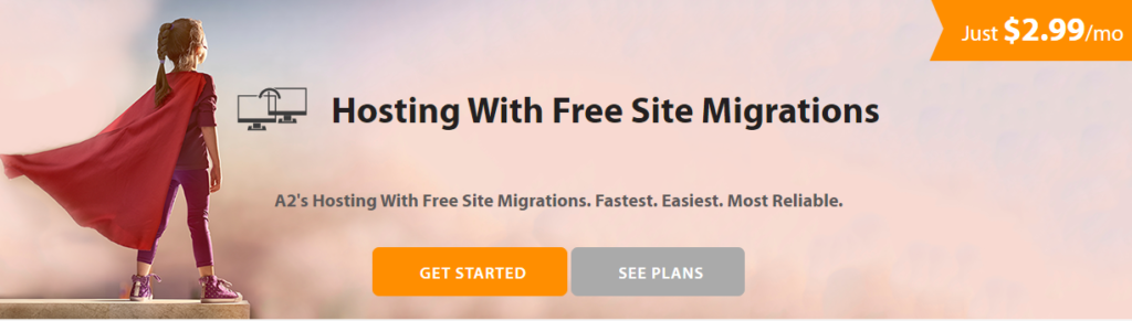 free site migration by a2 hosting