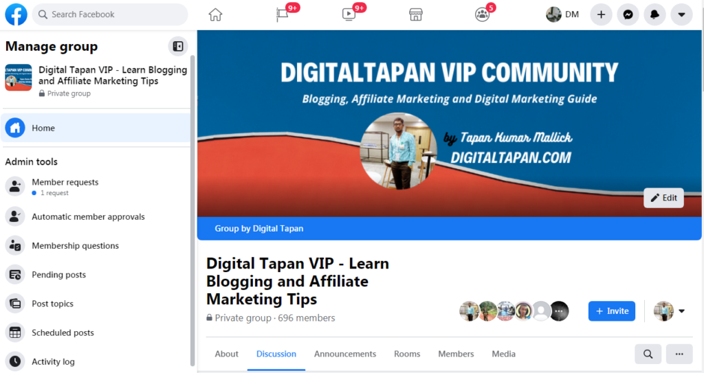digital tapan facebook group- social bookmarking sites